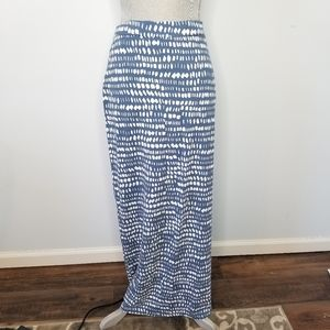 Loft Blue and white dot maxi skirt